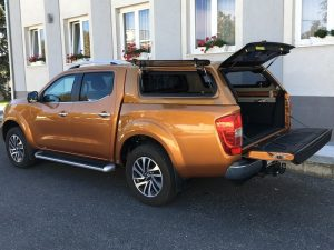 Aeroklas Stylish Hardtop Popup side window Nissan Navara Np300 DC 2016+